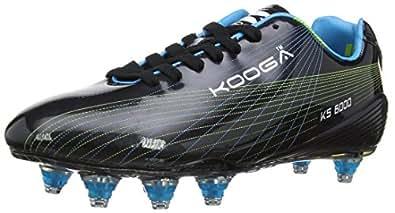 Kooga Unisex-Adult KS 6000 LCST Venom Rugby Boots 31405 Black/Blue/Lime 6 UK, 39.5 EU Regular
