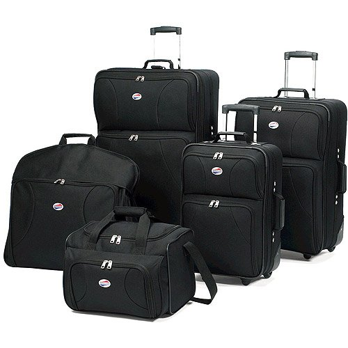 american-tourister-5-piece-luggage-set-black-travel-luggage-includes-garment-bags-luggage-sets-sale-