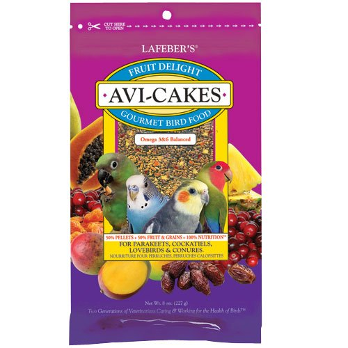 Image of Lafeber's Avi-Cakes Fruit Delight Bird Food, Parakeets/Cockatiels, 8oz (B0080MW0CG)