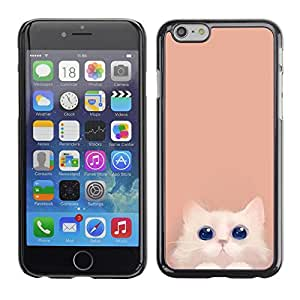 Omega Covers - Snap on Hard Back Case Cover Shell FOR Iphone 6/6S (4.7 INCH) - Cute Smiling Eyes Pastel Minimalist
