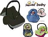 Sweet Baby-Multi Soft einschlagdecke Otoño/Invierno Sistema de cinturón * * * * 3y 5puntos universal para portabebés, asiento de coche, por ejemplo para maxi-cosi, Römer, para carrito, Paseo o cuna-de gris/negro--