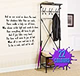 Stairway To Heaven 2 (Led Zeppelin) Lyric wall decal sticker quote (Medium)