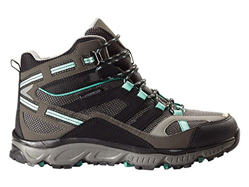 Damen Trekkingschuhe 37 38 39 wählbar schwarz grau türkis Wanderstiefel Wanderschuhe Trekkingstiefel Schuhe (38)