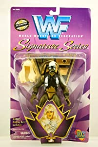 WWF / WWE - 1997 - Signature Series - Goldust Action Figure - Official Autographed Facsimile Figure - Series 1 - Bonus Display Base - Jakks - Limited Edition - Mint - Collectible