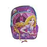 Disney Princess Rapunzel Backpack Sport School Travel Back Pack with Braids