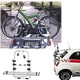 Einfacher Fahrrad-Hecktr�ger 90306631 zum Transport von 3 R�dern auf der Heckklappe f�r Volkswagen (VW) Golf (VII) - inkl. Adapter und Montagesatz