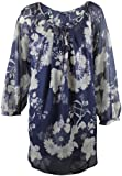 Ex Evans Blue & silver Butterfly Blouse & Camisole
