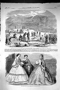 Una Stampa Antica del Punto 1860 di Garibaldi Faro Messina Fort Torre Di Cavallo Cala...