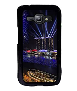 printtech Celebration New Year Lights Back Case Cover for Samsung Galaxy J1::Samsung Galaxy J1 J100F