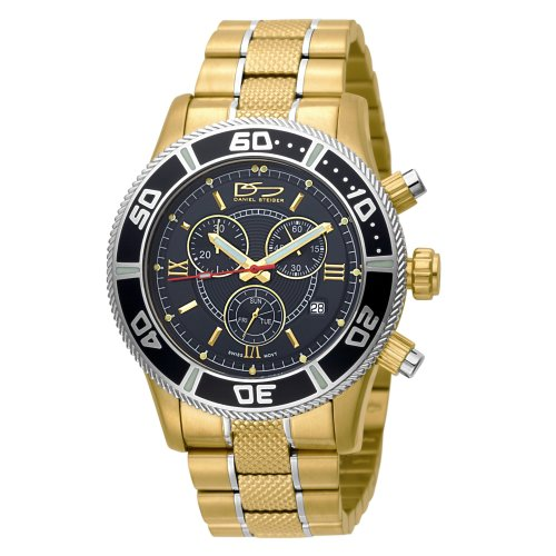 Daniel Steiger Men's 2088-M Eclipse Swiss Quartz Chronograph Gold Watch