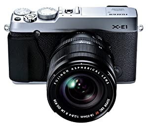 Fujifilm X-E1 16.3MP Compact System  Digital Camera with 2.8-Inch LCD- Kit with 18-55mm Lens (Silver)