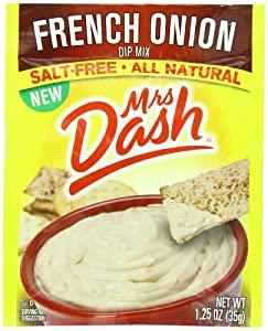 Mrs. Dash Dip Mix, French Onion, 1.25 Ounce (Pack of 12)