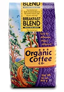 The Organic Coffee Company, Breakfast Blend Fair Trade Ground Coffee, 12-Ounce Packages (Pack of 2) from The Organic Coffee Company
