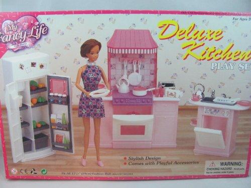 barbie size dollhouse furniture kitchen set new ebay. Black Bedroom Furniture Sets. Home Design Ideas