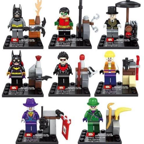 [8Piece/Set [BatMovies] Bat/Cat/Joker Action Figures HeroesMini Blocks Minifigures Educational Toys DIY Building Blocks] (Night Fury Costume For Cat)
