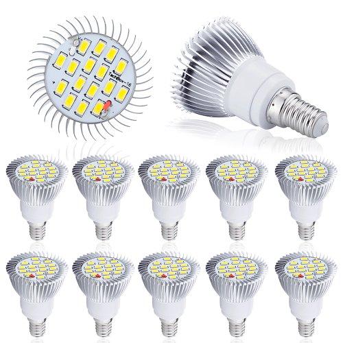 Mcitymall New Warm White 8W E14,E27,Gu10 16 5630 Smd Led Spot Light Bright Lamp Bulb 230V (10, E14)