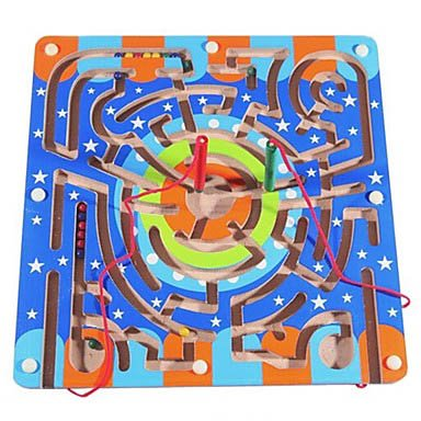 Circular Orbit Wooden Magnetic Maze Educational Toys front-627904