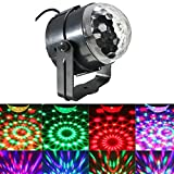 JIAFENG Mini Disco DJ Stage Lights, Sound Activated Led RGB Strobe Crystal Magic Rotating Ball Stage Lights For KTV Xmas Party Wedding Show Club Pub (1 Pack)