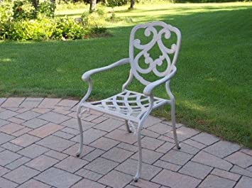 Oakland Living Pacifica Cast Aluminum Fully Welded Dining Chair, Beach Sand