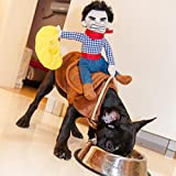 OLizee™Pet Dog Halloween Cowboy Funny Costume Dog Riders Clothes(L)