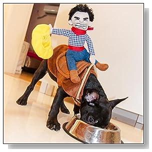 OLizee?Pet Dog Halloween Cowboy Funny Costume Dog Riders Clothes(L)