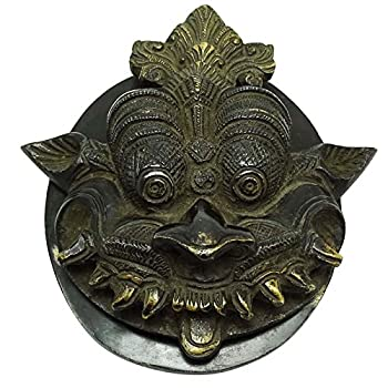 Ethnic Dragon Face Brass Door Knocker Decorative Home Décor Collectibles Gift