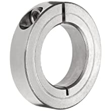 Climax Metal One-Piece Clamping Shaft Collar, Stainless Steel 303