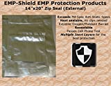 "(5) EMP-Shield EMP Protection Bag Kits with Silica Gel Desiccant, Laptop Size 14""x20"" Faraday Cage Electronics Shielding Anti-static"
