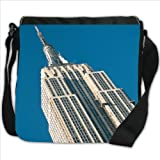 Empire State Building New York City Small Denim Shoulder Bag / Handbag