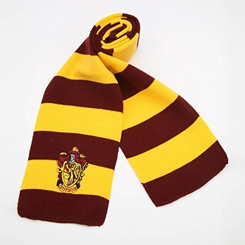 [17X170CM New Fashion 4 Color College scarf Harry Potter Gryffindor Series scarf With Badge Personality Cosplay Knit] (0-3 Months Baby Halloween Costumes Uk)