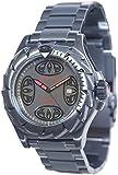 Animal Zepher XL Men's Quartz Watch with Black Dial Analogue Display and Silver Stainless Steel Bracelet WW3WC004 - Z76 - O/S
