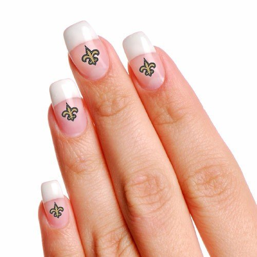 New Orleans Saints 4-Pack Temporary Nail Tattoos at Amazon.com