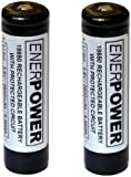 ENERPOWER - Batteria (Samsung ICR18650-26F) ricaricabile protetta (PCB 5A) Li-Ion 18650 3.7V 2600 mAh - per la torcia come Fenix, EagleTac, Spark - confezione da 2