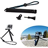 Pocket Adjustable Camera Tripod Grip Pole + Lanyard + Screw For GoPro HD Hero 4 3+ 3 2 1 Camera Accessories By...