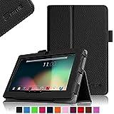 Fintie Folio Hülle Case Schutzhülle Tasche für 7 Zoll Android Tablet-PC Inklusive. rotor® 17,8 cm (7 Zoll) Android Tablet PC, JEJA 7 Zoll Android Google Tablet PC, Dragon Touch Y88X Plus / Y88X 7 Zoll Tablet PC, Trimeo 7 Zoll Tablet PC, ALLDAYMALL A88S / A88X 17,8 cm (7 Zoll) Tablet-PC, iRULU eXpro X1 7 Zoll Tablet PC, Arespark Ultrathin 7 Zoll Tablet PC, Yuntab 7 Zoll Y88 Tablet PC, NINETEC 7 Zoll Tablet PC, XIDO X70, 7 Zoll Tablet-Pc, Eagletech 7 inch Tablet PC, PHROG7 Tablet PC (7 Zoll), Rixow Ultrathin 7 inch Tablet PC, Schwarz