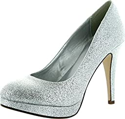 Sully\'S Eiffel-H Pumps-Shoes, Silver Glitter, 6