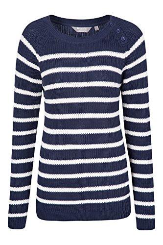 Mountain Warehouse Maglione a strisce lavorato a maglia per donna Kristy Blu navy 50