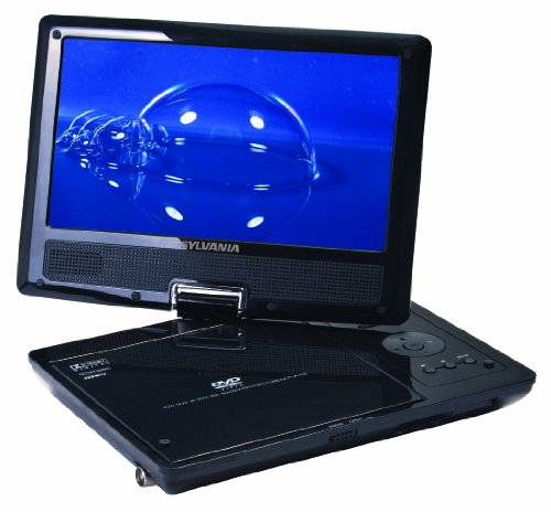 Review Sylvania SDVD9000B2 9-Inch Portable DVD Player with Car Bag/Kit, Swivel Screen, USB/SD Card R...