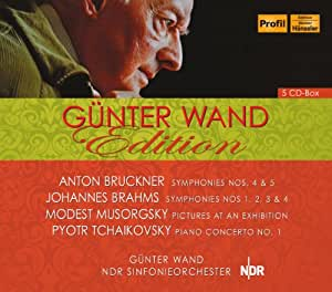 Edition : Bruckner, Brahms, Moussorgsky, Tchaikovsky - Symphonie, Pictures at an Exhibition, Piano Concerto