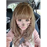 Leegoal Women Cat Ear Headband Pearl Shape Rhinestone Hair Band Headwear