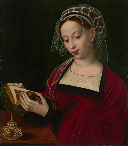 'Ambrosius Benson The Magdalen Reading ' Oil Painting, 20 X 23 Inch / 51 X 58 Cm ,printed On High Quality Polyster Canvas ,this Replica Art DecorativeCanvas Prints Is Perfectly Suitalbe For Hallway Artwork And Home Decoration And Gifts