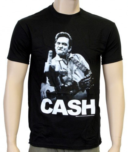 Coole-Fun-T-Shirts - T-Shirt Johnny Cash - Flippin, T-shirt, nero(schwarz), M