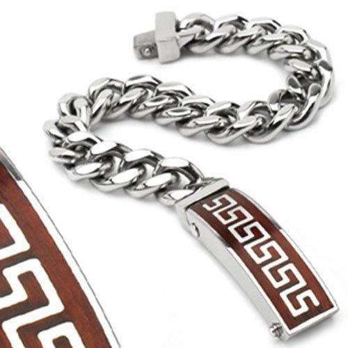Men Tribal View Silver Stainless Bracelet Wristband K132