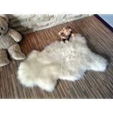 Biggest Sheepskin Rug | Genuine | Thick Wool | Creamy White (Medium 120-130 cm)
