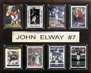 NFL Denver Broncos John Elway Eight Card Plaque by C&I Collectables