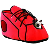 Etna Pet Store Shoe Cat Playhouse, Red