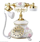 Shop Brand New White Emboss Flowers - Retro Vintage Antique Telephone (Home & Furniture Decor)