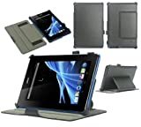 Navitech B1-A71 Multi Stand Leather Case for Acer Iconia Tab - Black