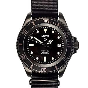 MWC Submariner Dive Watch 21 Jewel Auto in Black PVD