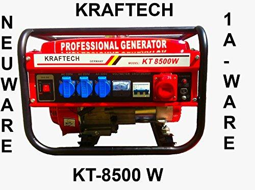 KRaftech Stromgenerator 6000W Stromerzeuger, Notstromaggregat, Aggregat, Stromaggregat 6,5 PS / 4-Takt / 12, 220, 380V / Luft gekühlt